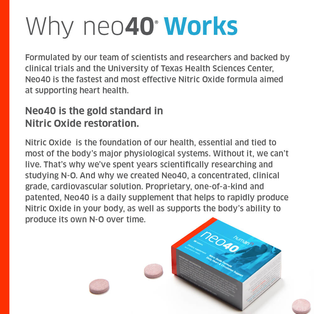 neo40® - the gold standard in nitric oxide restoration | humann