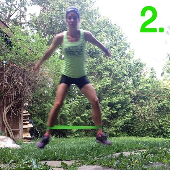 Lateral Hops Step 2