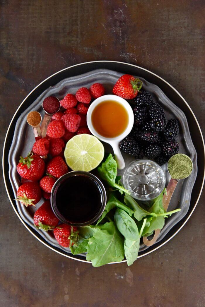 Berry Green Smoothie Ingredients
