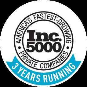 Inc fastest growing companies 3 years running