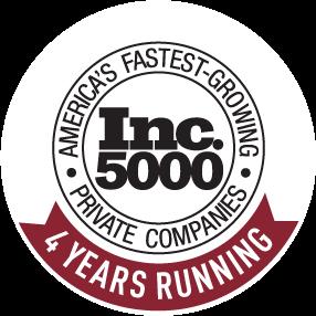 Inc fastest growing companies 4 years running
