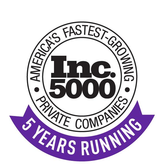 Inc 5000 5 years running